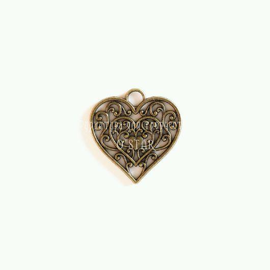 Для украшений ручной работы. Ярмарка Мастеров - ручная работа. Купить Ажурное серце. Handmade. Материалы для творчества, материалы для рукоделия