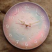 """Часы классические ручной работы. Ярмарка Мастеров - ручная работа Часы из белой глины """"Нежность"""". Handmade."""