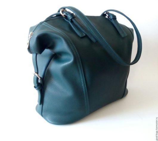 Женские сумки ручной работы. Ярмарка Мастеров - ручная работа. Купить Сумка-мешок. Handmade. Тёмно-зелёный, сумка на плечо