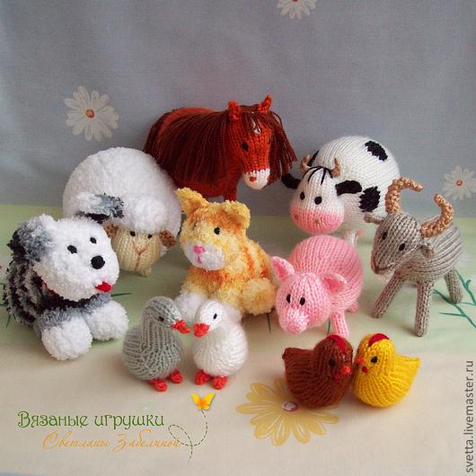"""Игрушки животные, ручной работы. Ярмарка Мастеров - ручная работа. Купить Набор вязаных игрушек  """"Домашние животные"""". Handmade. лошадь"""