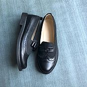 Обувь ручной работы handmade. Livemaster - original item Bow Pumps black leather / black nubuck black sole. Handmade.