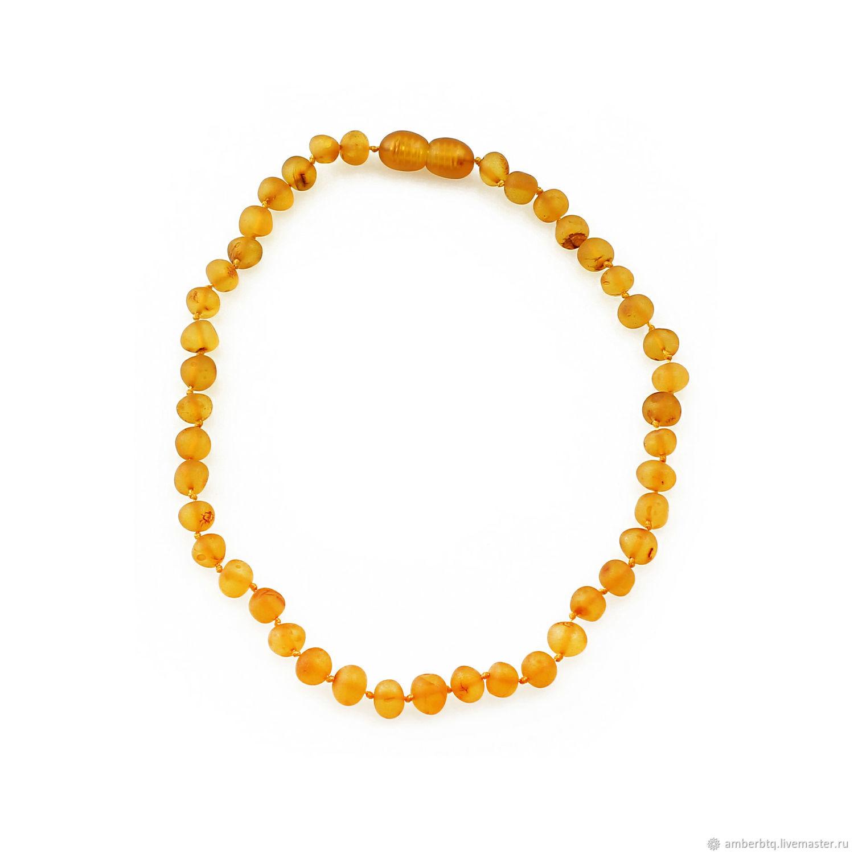 Children's beads made of natural cognac amber ' Belochka», Beads2, Kaliningrad,  Фото №1