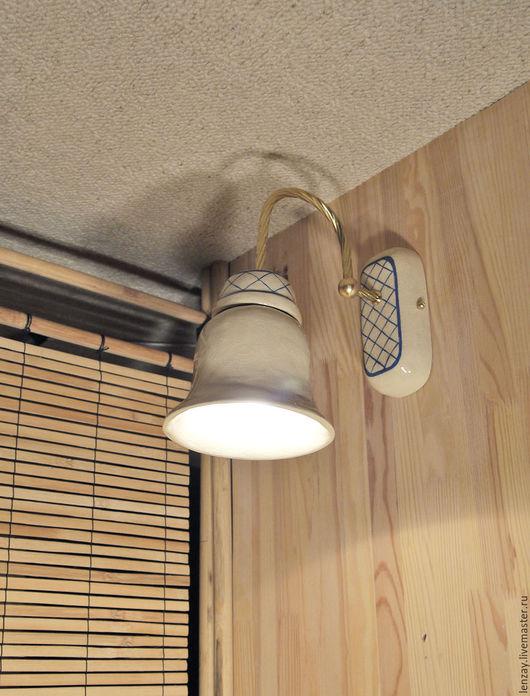 Освещение ручной работы. Ярмарка Мастеров - ручная работа. Купить Итальянское ретро - настенный одинарный светильник в ванную. Handmade. Белый