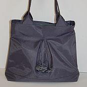 Сумки и аксессуары ручной работы. Ярмарка Мастеров - ручная работа серая дамская сумка. Handmade.