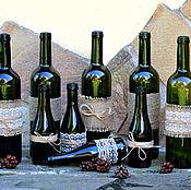 Бутылки ручной работы. Ярмарка Мастеров - ручная работа Бутылки декоративные. Handmade.