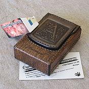 Сувениры и подарки handmade. Livemaster - original item Monogrammed cigarette case. sigaretta. Personalized gift. Handmade.