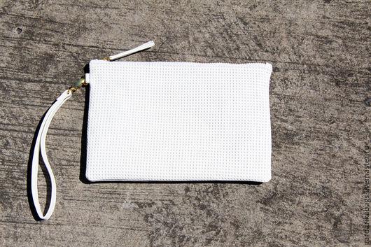 Женские сумки ручной работы. Ярмарка Мастеров - ручная работа. Купить Клатч из кожи белый. Handmade. Белый, клатч белый