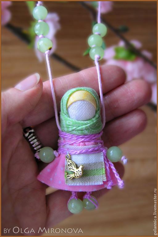 Народные куклы ручной работы. Ярмарка Мастеров - ручная работа. Купить Наперсница. Handmade. Бледно-розовый, душевная кукла, лён
