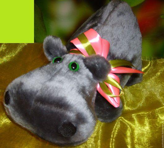 """Игрушки животные, ручной работы. Ярмарка Мастеров - ручная работа. Купить мягкая игрушка """"Бегемотик"""". Handmade. Темно-серый, оливковый"""