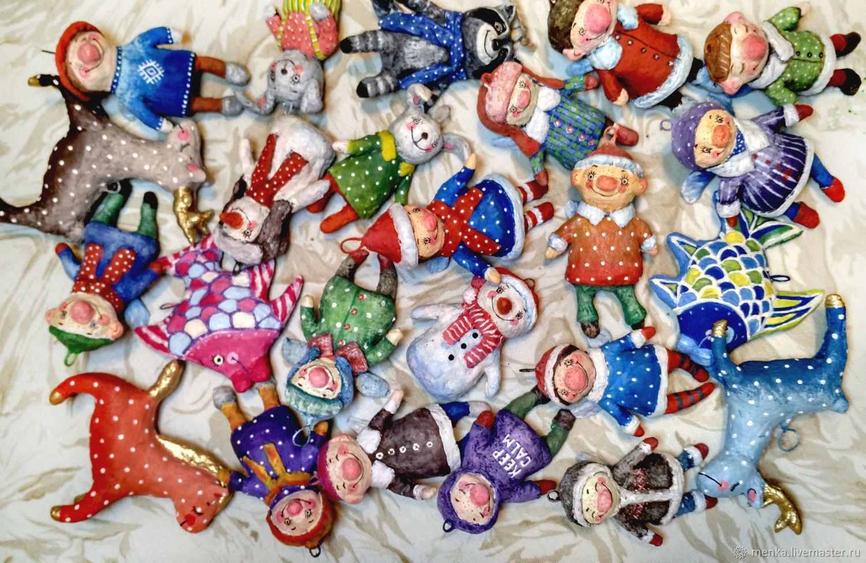 Комплекты игрушек на елку из ваты(на заказ), Елочные игрушки, Минск,  Фото №1