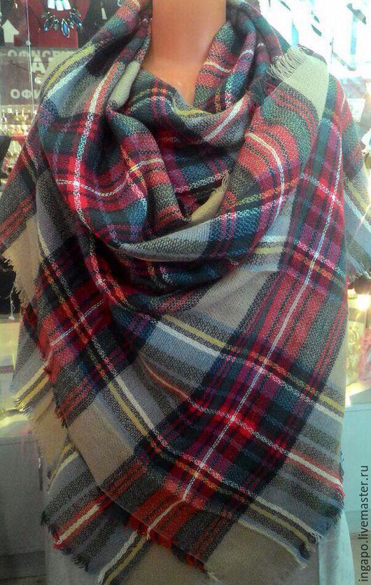 """Шитье ручной работы. Ярмарка Мастеров - ручная работа. Купить Шаль """"Шотландия"""" большая s002. Handmade. Бежевый, купить шаль"""