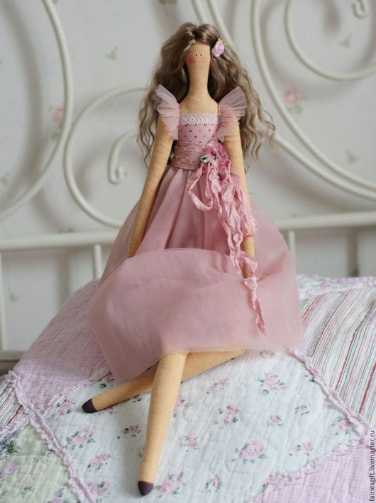 Куклы Тильды ручной работы. Ярмарка Мастеров - ручная работа. Купить Текстильная кукла Жизель. Handmade. Брусничный, кукла интерьерная