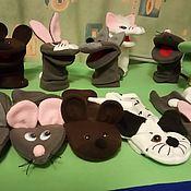 Кукольный театр ручной работы. Ярмарка Мастеров - ручная работа Перчаточные куклы зверушки. Handmade.