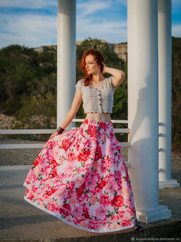 Boho long skirt 'may rose', Skirts, Anapa,  Фото №1