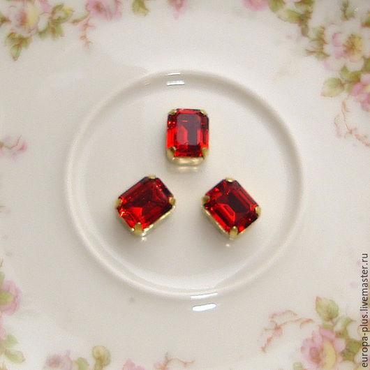 Для украшений ручной работы. Ярмарка Мастеров - ручная работа. Купить Винтажные кристаллы 10х8 мм - Siam. Handmade.