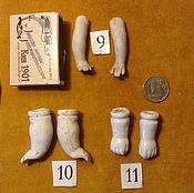 Материалы для творчества ручной работы. Ярмарка Мастеров - ручная работа Антикварные кукольные ручки - 3, фарфор. Handmade.