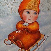 Картины и панно ручной работы. Ярмарка Мастеров - ручная работа Пока не видит мама. Handmade.