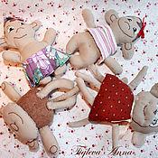 """Куклы и игрушки ручной работы. Ярмарка Мастеров - ручная работа Авторская игрушка из ткани """"Обезьянка"""". Handmade."""