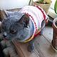 """Одежда для собак, ручной работы. Вязаное платье для маленькой собачки """" Розочка"""". BlueberryNights. Интернет-магазин Ярмарка Мастеров."""
