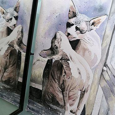 Картины и панно ручной работы. Ярмарка Мастеров - ручная работа Картина на заказ акварелью Питомец. Handmade.