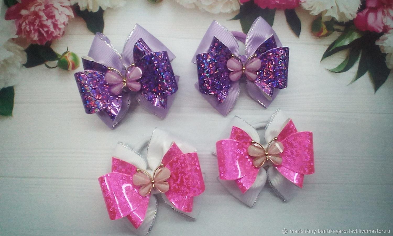 Бабочки на Блестящем, Резинка для волос, Гаврилов Ям,  Фото №1