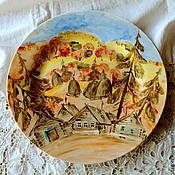 Посуда handmade. Livemaster - original item Painted porcelain. Plate