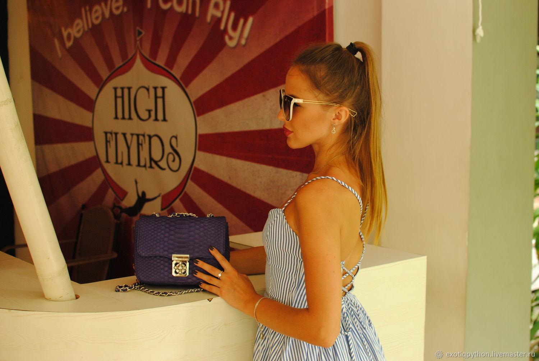 Mini handbag made from Python, Classic Bag, Moscow,  Фото №1