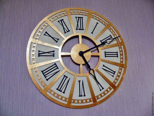 """Часы для дома ручной работы. Ярмарка Мастеров - ручная работа. Купить Настенные часы """"Римские"""". Handmade. Золотой, настенные часы"""
