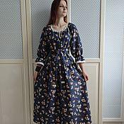 Одежда handmade. Livemaster - original item Magnolia dress made of cotton with lace. Handmade.
