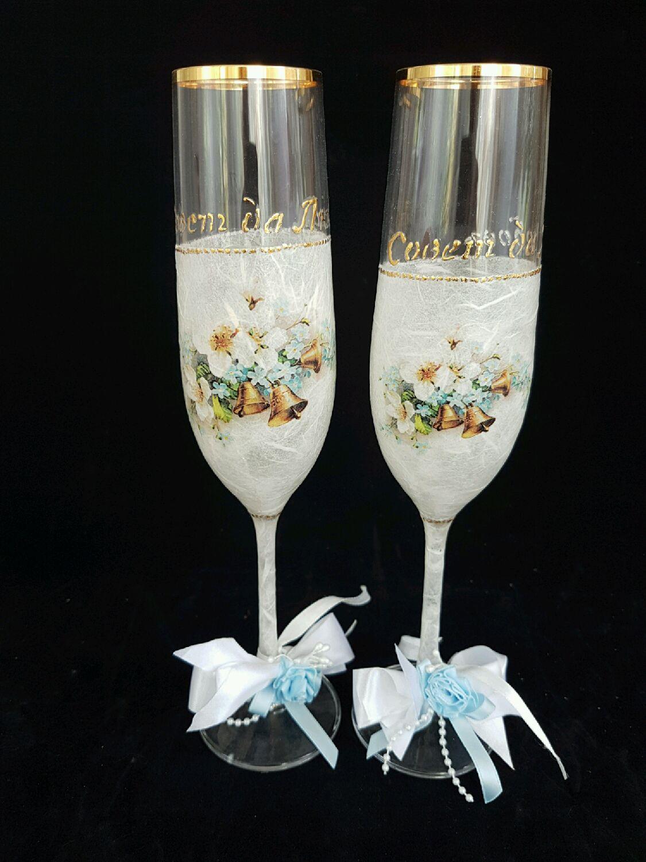 Wedding glasses, Lace,, Wedding glasses, Riga,  Фото №1
