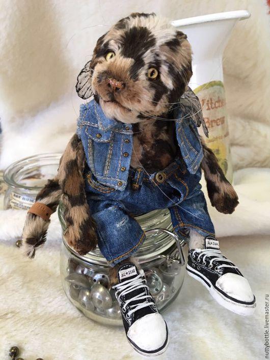 Мишки Тедди ручной работы. Ярмарка Мастеров - ручная работа. Купить Котик тедди Вуди. Handmade. Кот, котенок, теддик