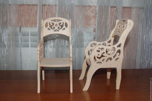 Кукольное кресло 357.Заготовка для декупажа и росписи.