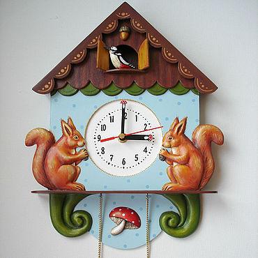"""Для дома и интерьера ручной работы. Ярмарка Мастеров - ручная работа Часы настенные """" Лесная сказка"""". Handmade."""