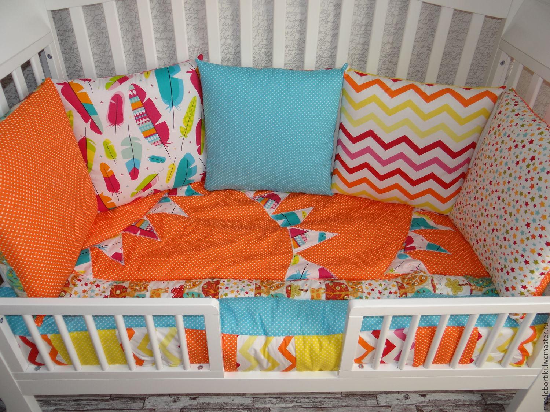 Бортики в детскую кроватку мастер