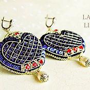 Украшения handmade. Livemaster - original item bead earrings. Beaded earrings. LONDON. Buy earrings.. Handmade.