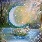 """Картины и панно ручной работы. Ярмарка Мастеров - ручная работа Картина""""Колыбельная""""  сказочная,волшебная,красивая. Handmade."""