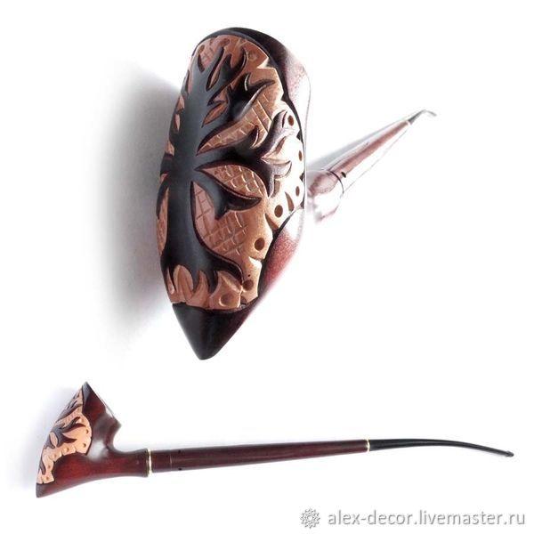Подарки для мужчин, ручной работы. Ярмарка Мастеров - ручная работа. Купить Курительная трубка 'Tree of Gondor'. Handmade. Комбинированный