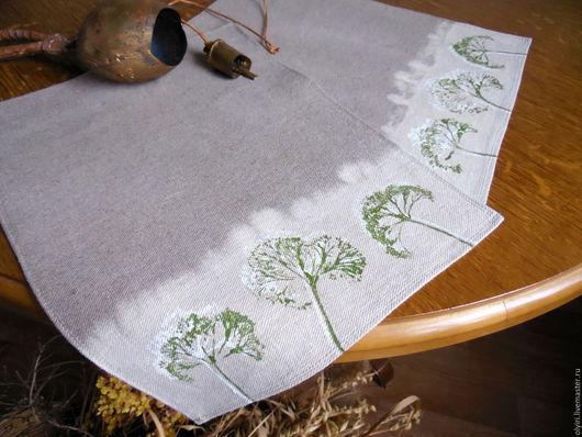 """Текстиль, ковры ручной работы. Ярмарка Мастеров - ручная работа. Купить Ланчмат льняной """"Утро Прованса"""" в кантри стиле для пары. Handmade."""