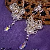 "Свадебный салон handmade. Livemaster - original item Wedding jewelry, earrings for bride with pearls ""Dreams"". Handmade."