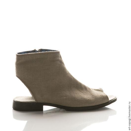 Обувь ручной работы. Ярмарка Мастеров - ручная работа. Купить Открытые летние ботинки 11-307 (ВЧ). Handmade. Мода