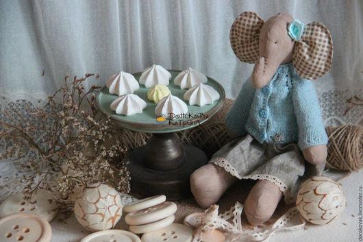 """Персональные подарки ручной работы. Ярмарка Мастеров - ручная работа. Купить Слоник """"Нежность"""" (текстильная игрушка). Handmade. Голубой"""