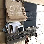 Для дома и интерьера handmade. Livemaster - original item The housekeeper and a chalkboard with paper and shelves. Handmade.