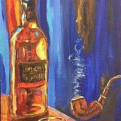 Картины ручной работы. Ярмарка Мастеров - ручная работа Картины: Он и виски. Handmade.