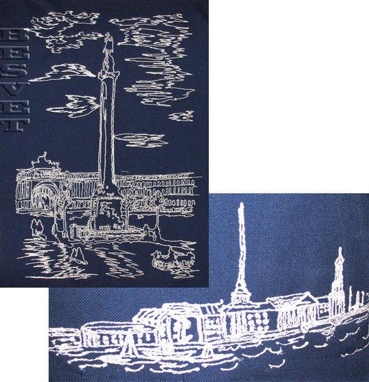 Текстиль, ковры ручной работы. Ярмарка Мастеров - ручная работа. Купить Вышивка в интерьере. Handmade. Монохром, панно, покрывало