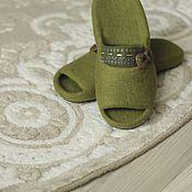 """Обувь ручной работы. Ярмарка Мастеров - ручная работа """"Сочная олива""""  тапочки валяные. Handmade."""