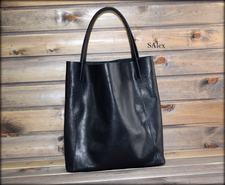 Шоппер из кожи растительного дубления, Классическая сумка, Новокузнецк,  Фото №1
