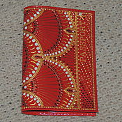"""Обложки ручной работы. Ярмарка Мастеров - ручная работа Обложка на паспорт """" Индийские напевы"""". Handmade."""