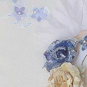 Свадебный салон ручной работы. Ярмарка Мастеров - ручная работа Свадебная книга пожеланий. Цвет айвори и синяя классика. Handmade.