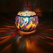handmade. Livemaster - original item Stained glass candlestick