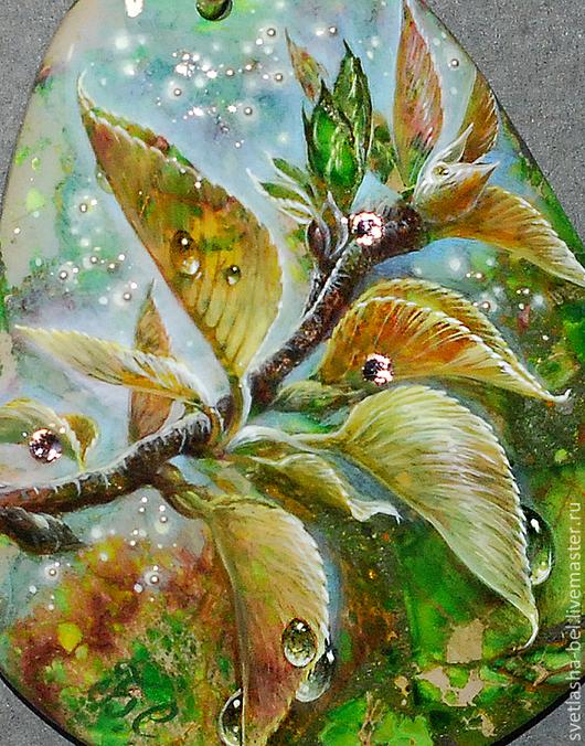 Кулоны, подвески ручной работы. Ярмарка Мастеров - ручная работа. Купить Весна идёт.... Handmade. Зеленый, авторское украшение